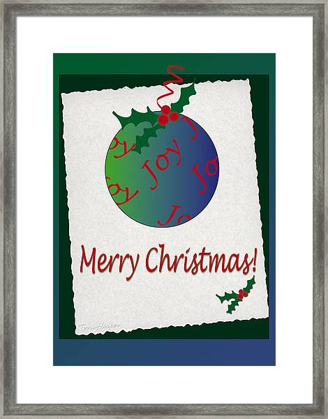 Christmas Joy Framed Print
