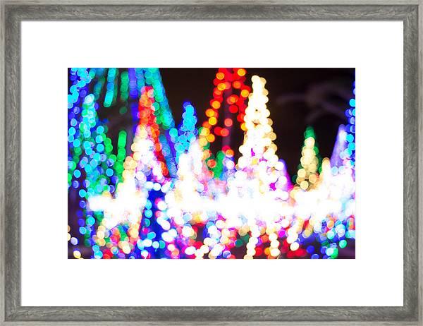 Christmas Lights Abstract Framed Print