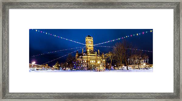Christmas On The Square Framed Print