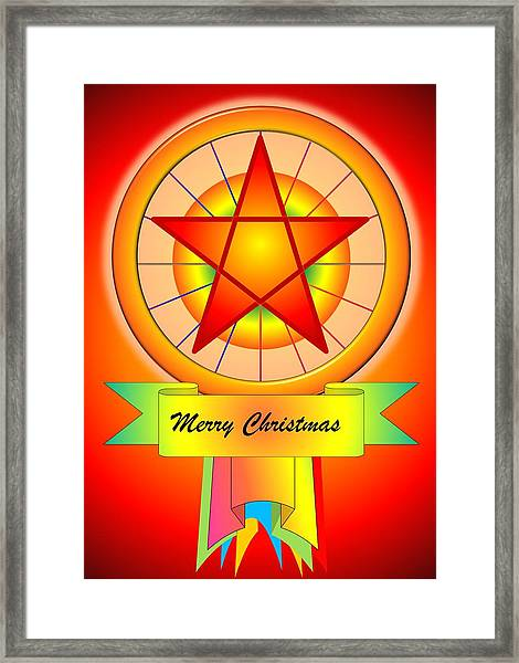 Christmas Parol Framed Print