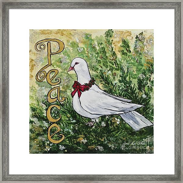 Christmas Peace Dove Framed Print
