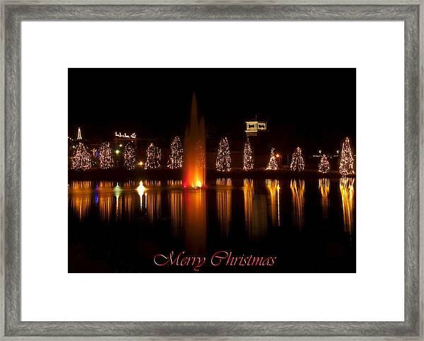 Christmas Reflection - Christmas Card Framed Print