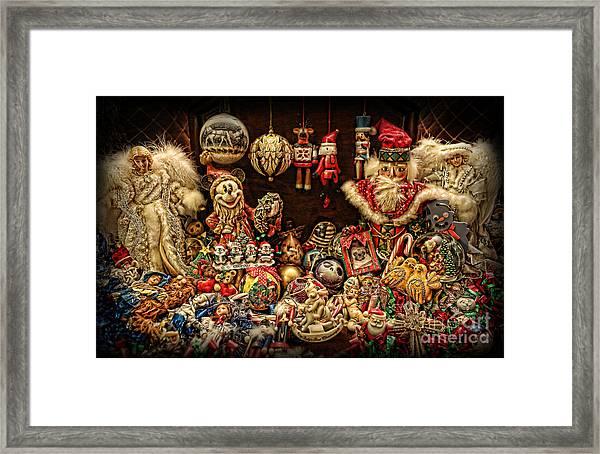 Christmas Tree Ornaments Framed Print by Lee Dos Santos