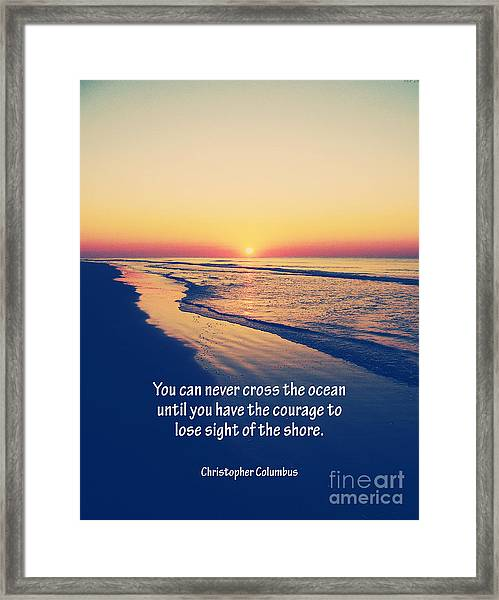Christopher Columbus Quote Framed Print