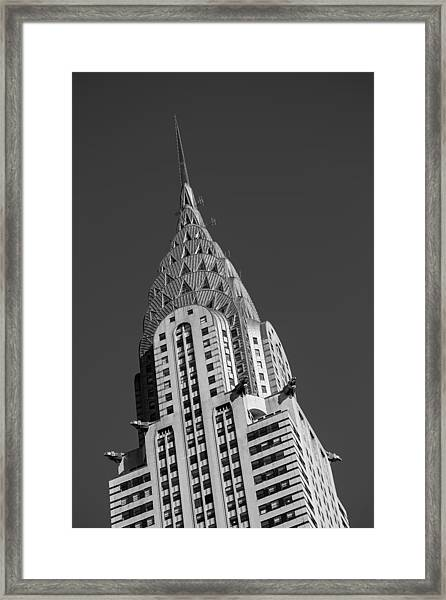 Chrysler Building Bw Framed Print
