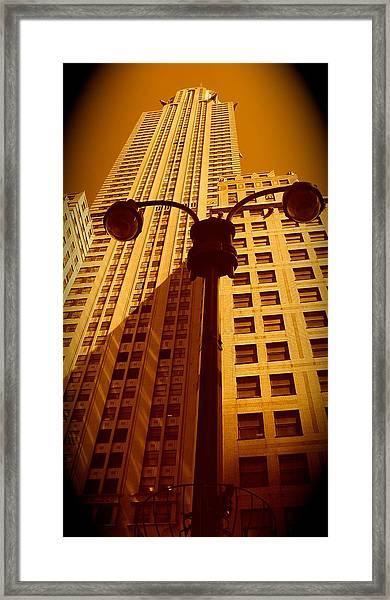Rockefeller Building In Manhattan Framed Print