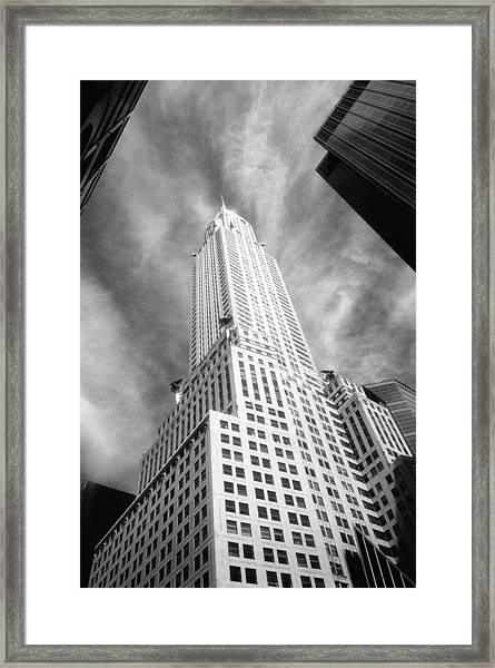 Chrysler Building Infrared Framed Print