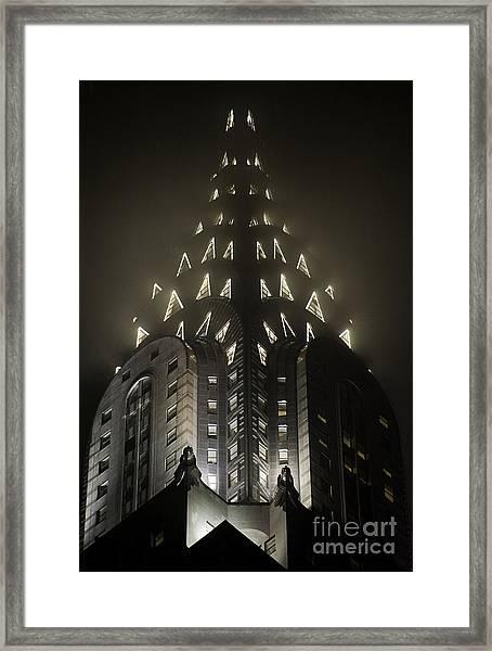 Chrysler Fog Lights Framed Print