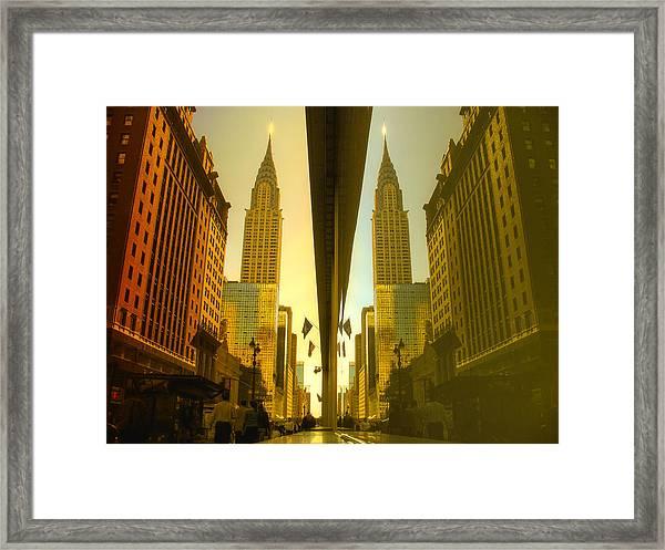 Chrysler Reflection On 42nd Street Framed Print