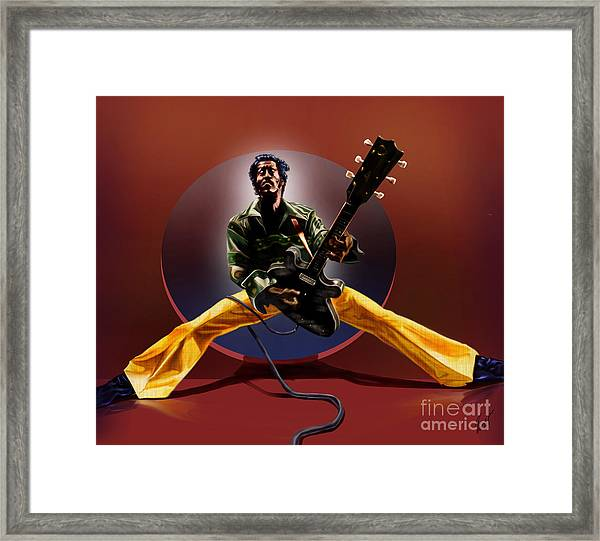 Chuck Berry - This Is How We Do It Framed Print