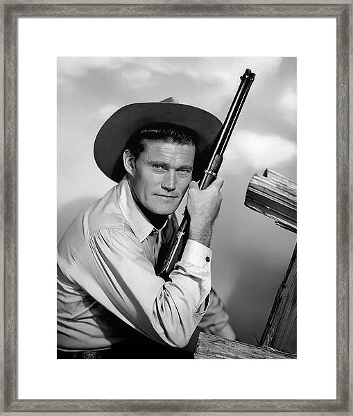 Chuck Connors - The Rifleman Framed Print