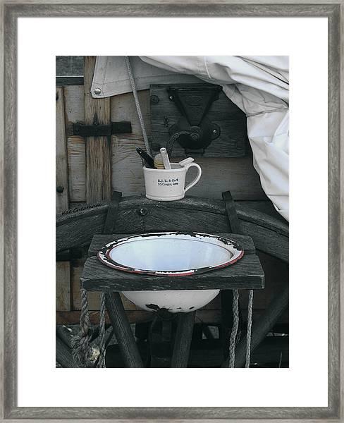 Chuckwagon Wash Basin Framed Print