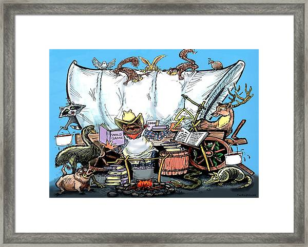 Chuckwagon Framed Print