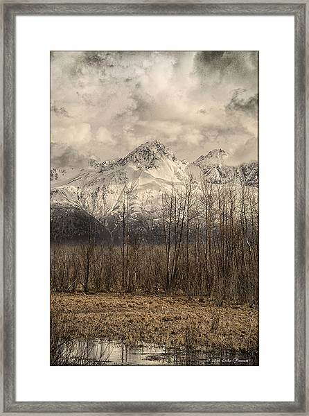 Chugach Mountains In Storm Framed Print
