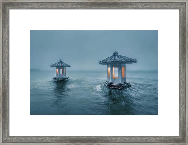 Chuiguang Pavilion Framed Print