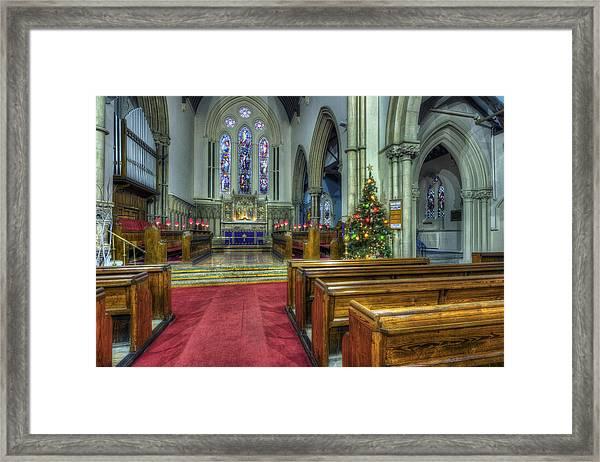 Church At Christmas V3 Framed Print
