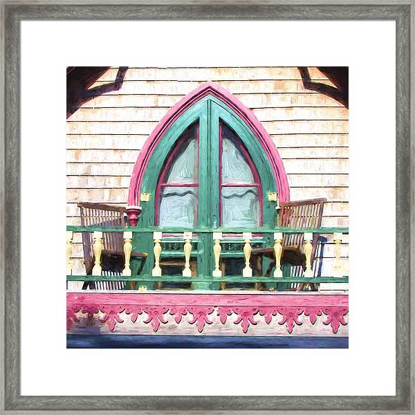 Church Camp House Detail Painterly Series 8 Framed Print