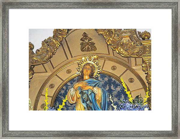 Church In Marbella Spain Framed Print