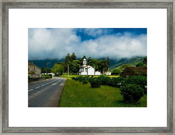 Church In Seven Cities Framed Print