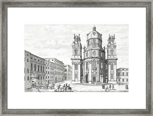 Church Of Notre Dame, Salzburg Framed Print