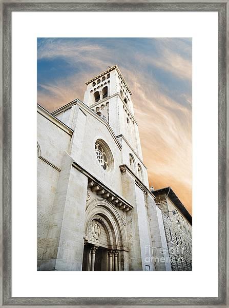 Church Of The Redeemer In Jerusalem Framed Print