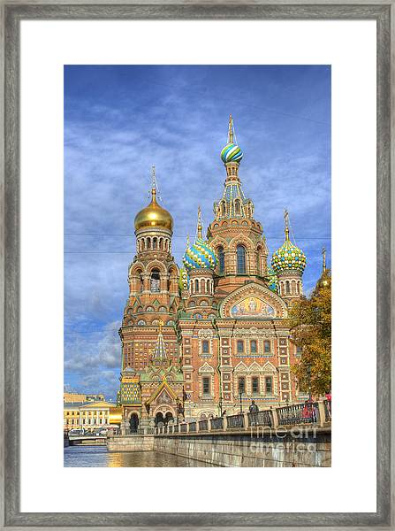 Church Of The Saviour On Spilled Blood. St. Petersburg. Russia Framed Print