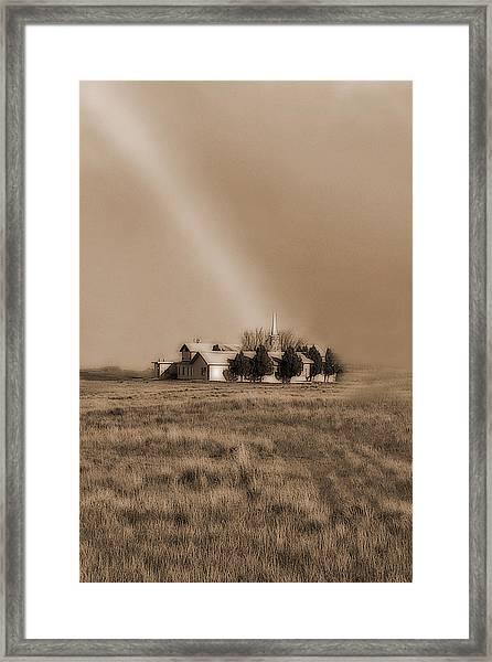 Church On The Prairie Framed Print