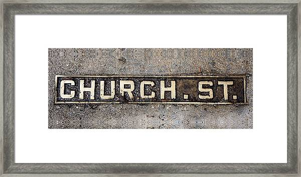 Church Street Framed Print