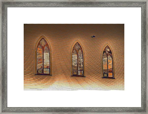 Church Windows Framed Print