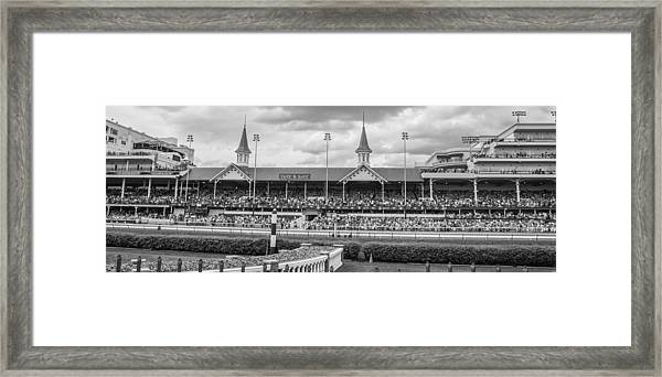 Churchill Downs And Twin Spires  Framed Print