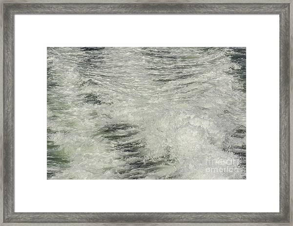 Churning Water Framed Print