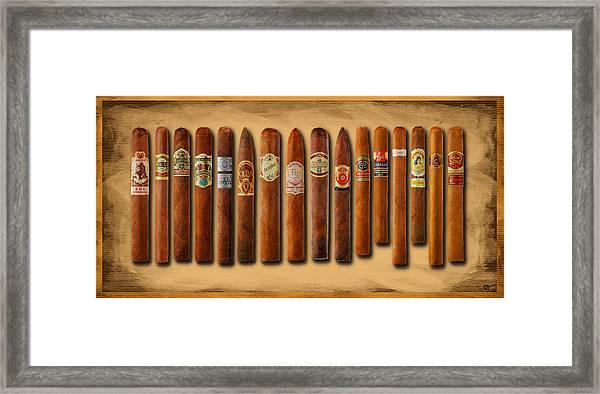 Cigar Sampler Painting Framed Print