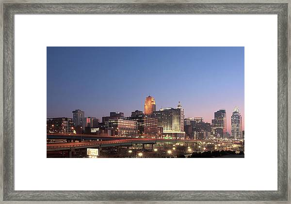 Cincinnati In Morning Twilight Framed Print