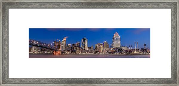 Cincinnati Morning Twilight Framed Print