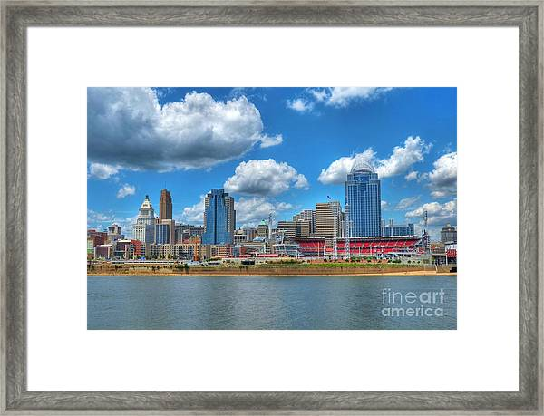 Framed Print featuring the photograph Cincinnati Skyline by Mel Steinhauer