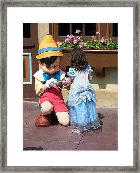 Cinderella Gets Autograph Framed Print