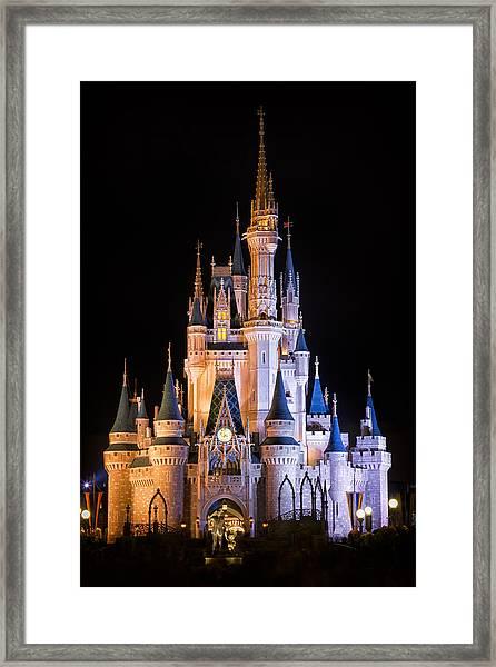Cinderella's Castle In Magic Kingdom Framed Print