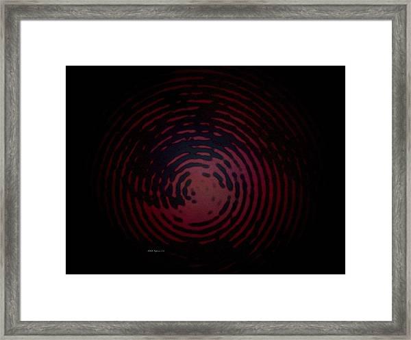 Circle Of Blackness Framed Print