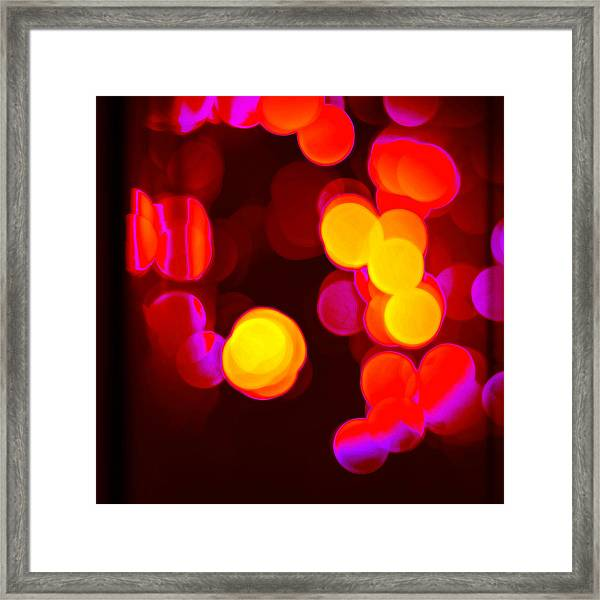 Circles In Infrared Framed Print