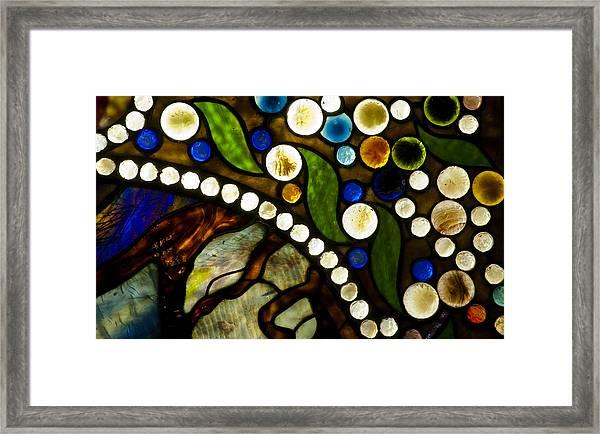 Circles Of Glass Framed Print