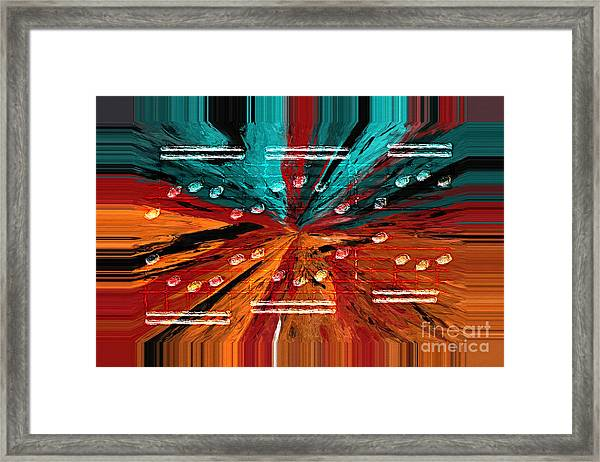Circling The Abyss Framed Print