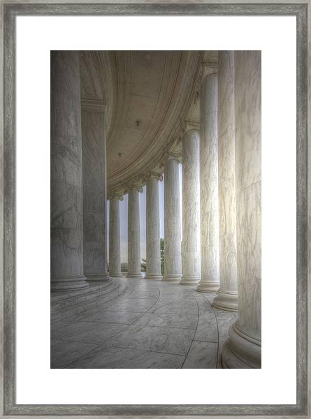 Circular Colonnade Of The Thomas Jefferson Memorial Framed Print