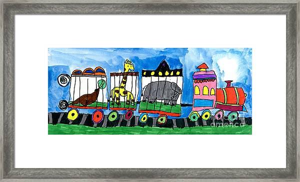 Circus Train Framed Print