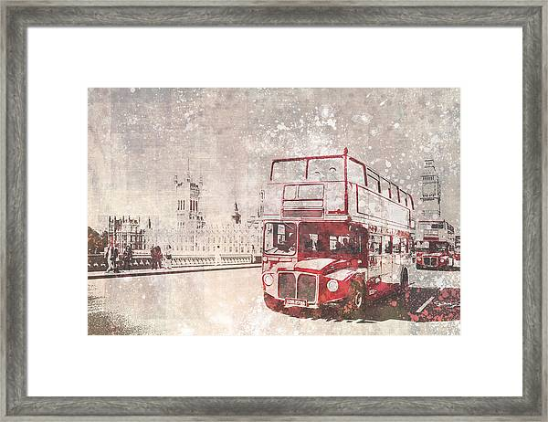 City-art London Red Buses II Framed Print