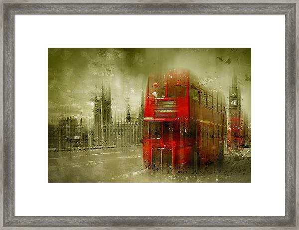 City-art London Red Buses Framed Print