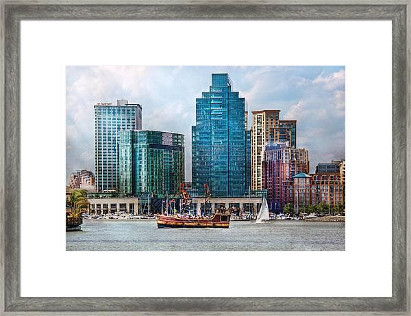 City - Baltimore Md - Harbor East  Framed Print