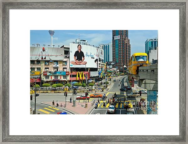 City Centre Scene - Kuala Lumpur - Malaysia Framed Print