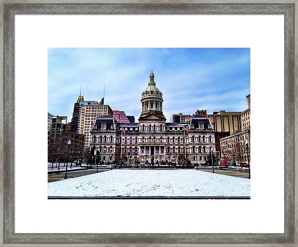 City Hall In Baltimore Framed Print