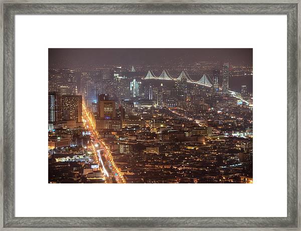 City Lava Framed Print
