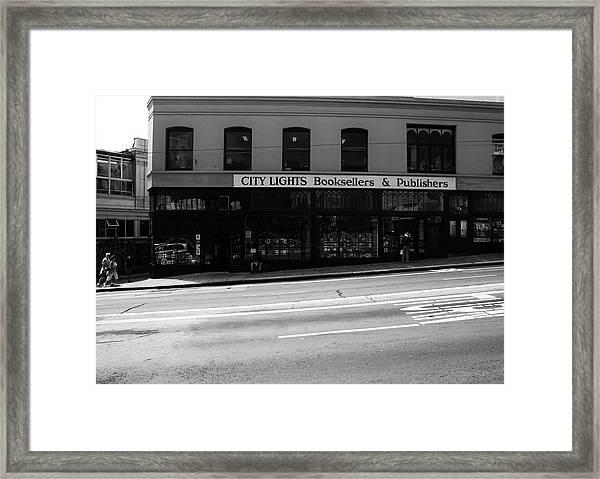 City Lights Booksellers Framed Print